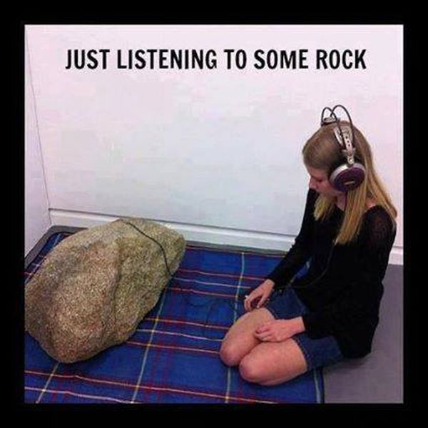 Listening To Some Rock - Funny pictures