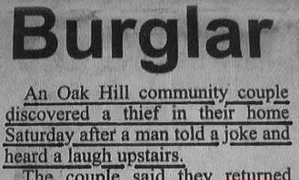 Dumb Burglar - Funny pictures