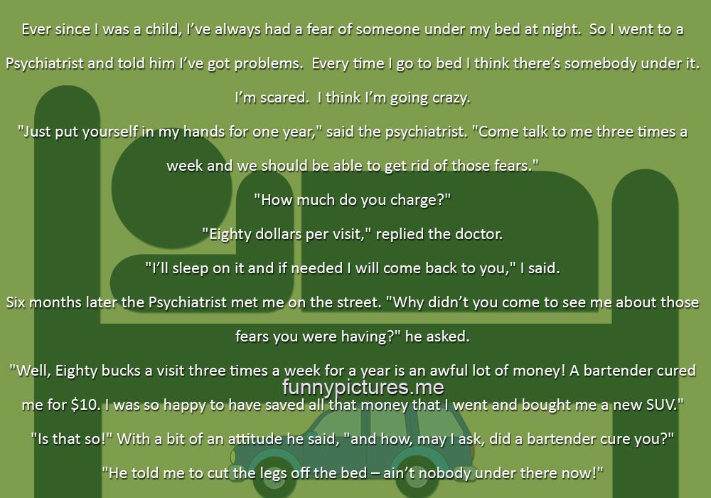 Psychiatrist vs. Bartender - Funny pictures