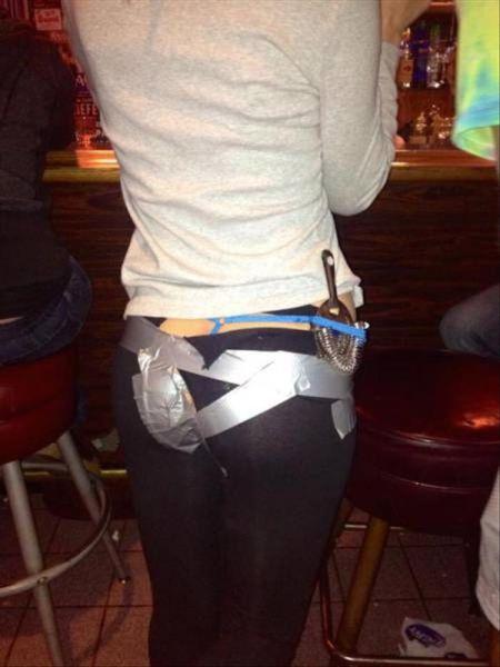 Duct Tape Leggings Repair - Funny pictures