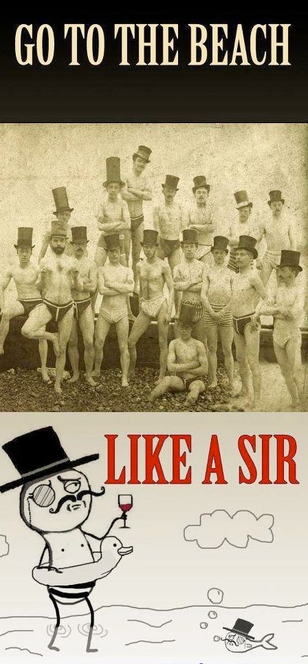 Going To The Beach Like A Sir - Funny pictures
