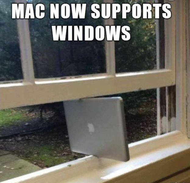 Mac Now Supports Windows - Funny pictures