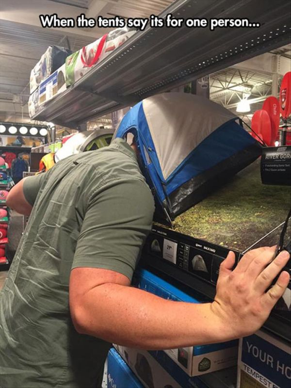 One Person Tent - Funny pictures