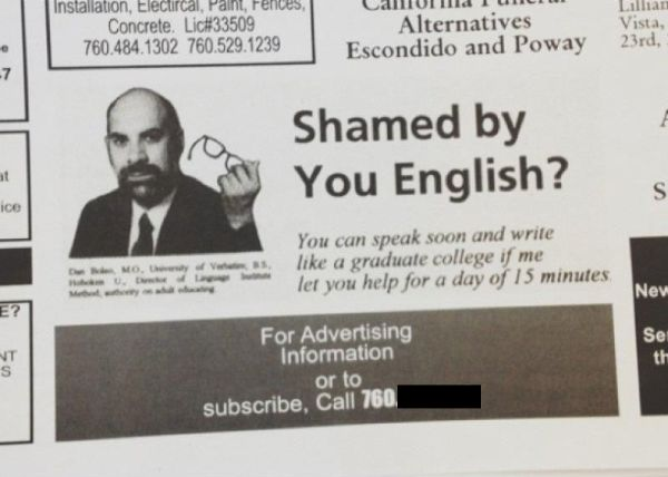 Shamed By Your English? - Funny pictures