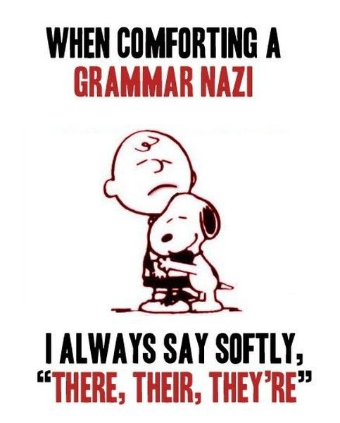 When Comforting Grammar Nazi - Funny pictures