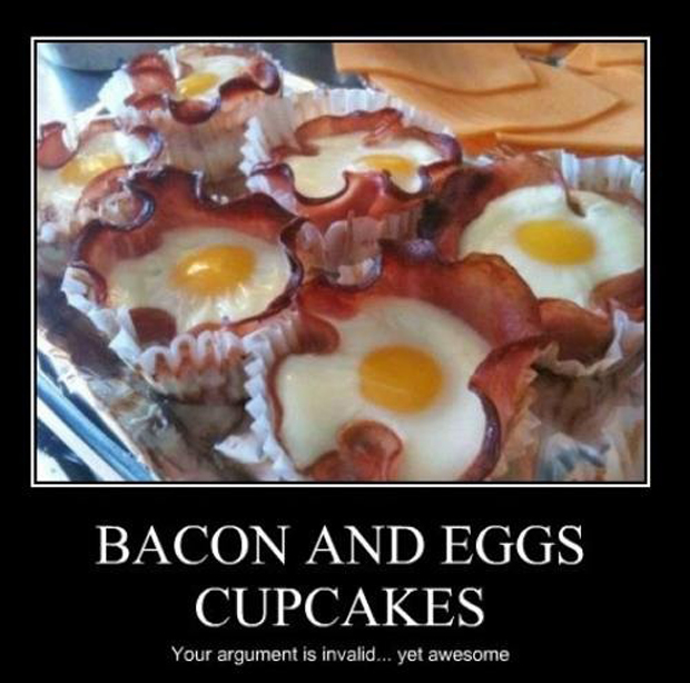 Bacon And Eggs Cupcakes - Funny pictures
