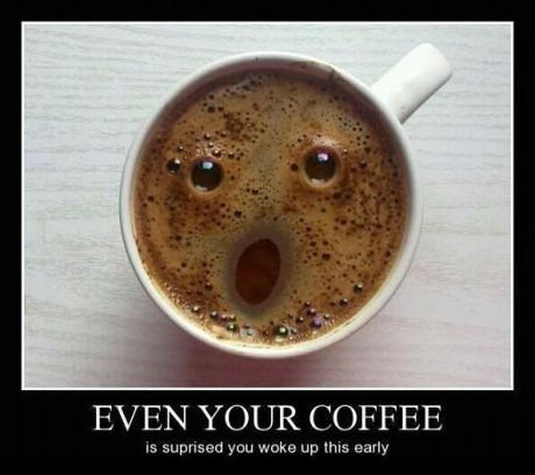 That Moment When You Surprise Your Coffee - Funny pictures