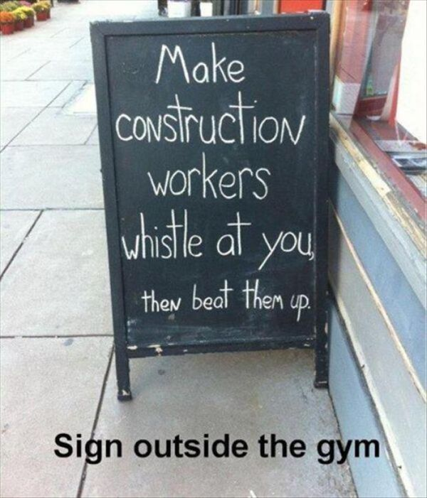 Sign Outside The Gym - Funny pictures