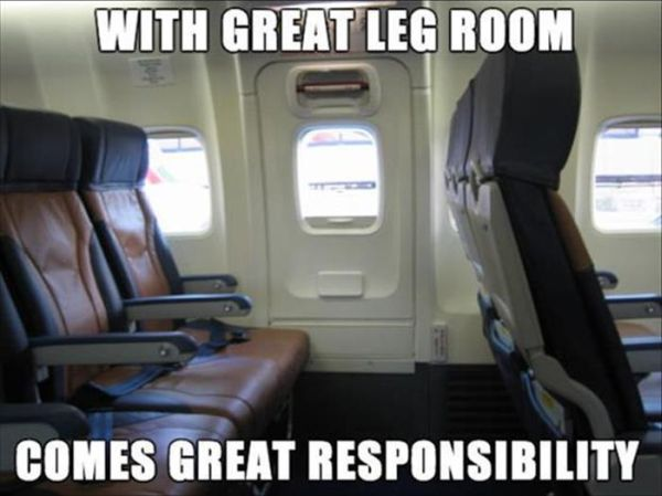 What Comes With Great Leg Room - Funny pictures
