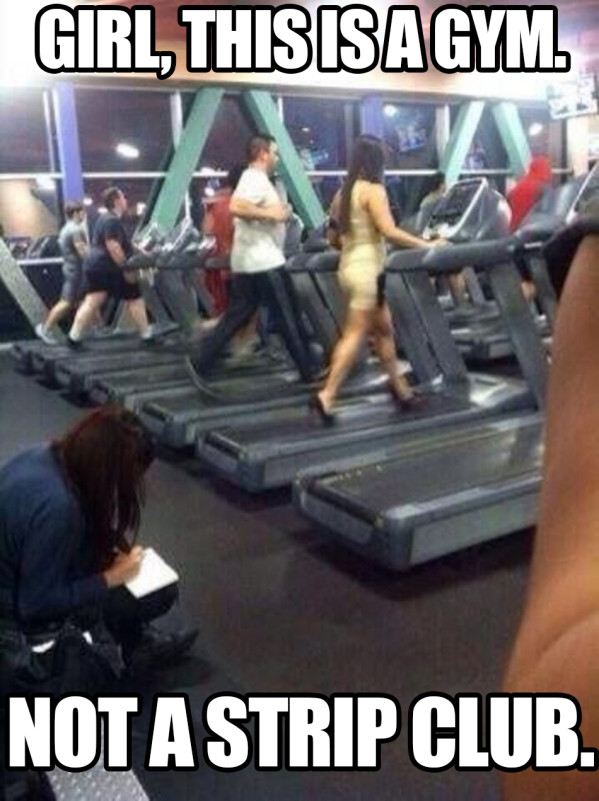 Girl This Is A Gym - Funny pictures
