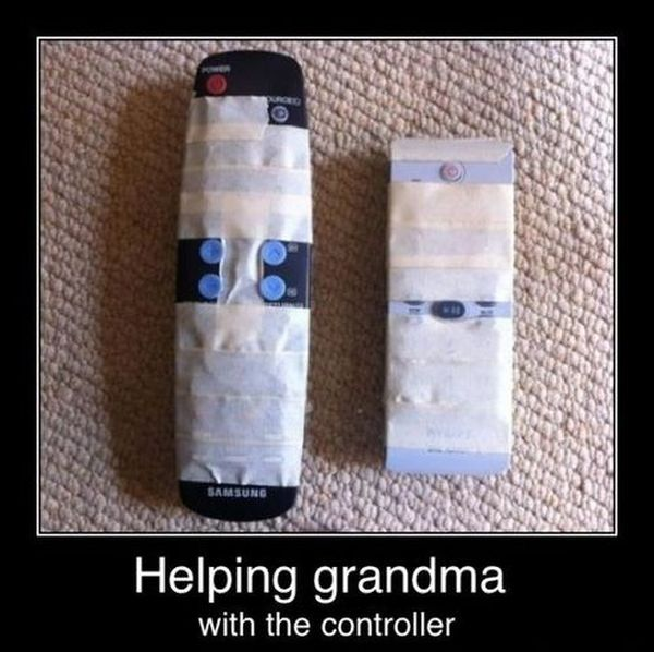 Grandma's Controller - Funny pictures