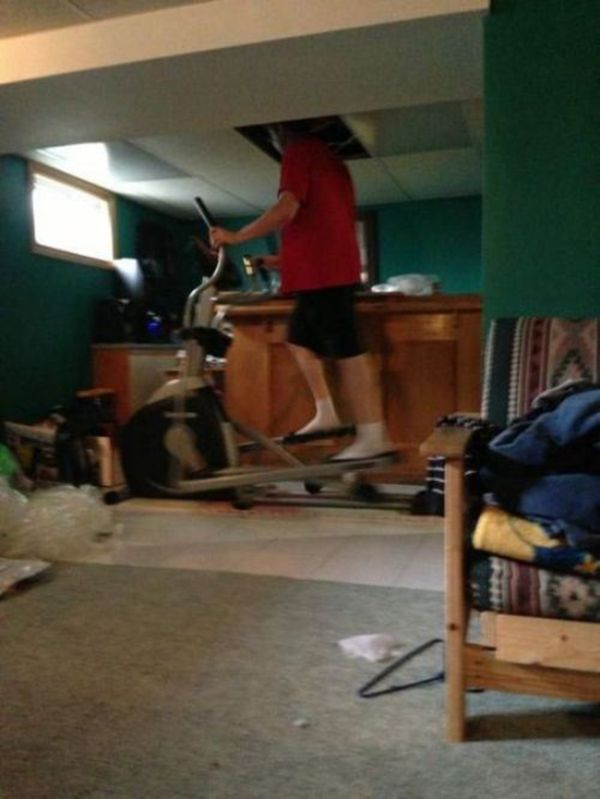 Basement Exercise - Funny pictures