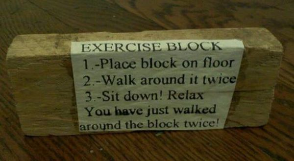 Exercise Block - Funny pictures
