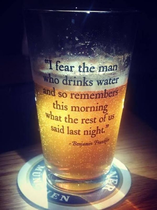 I Fear The Man Who Drinks Water... - Funny pictures