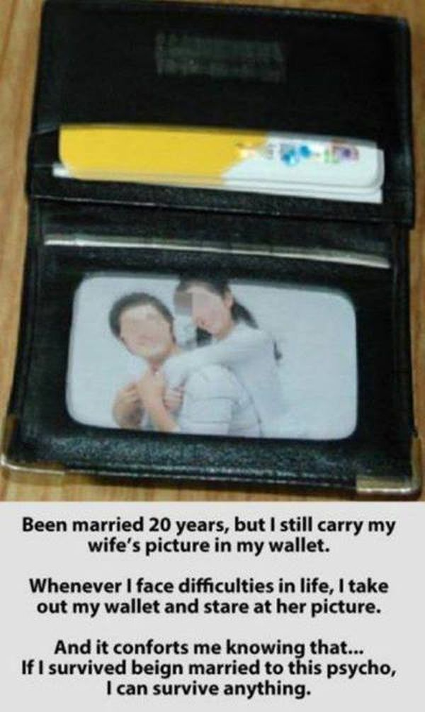 Wife's Picture In The Wallet - Funny pictures