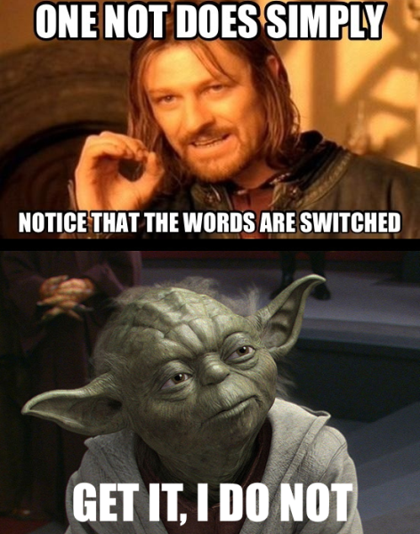 Yoda S Grammar Funny Pictures